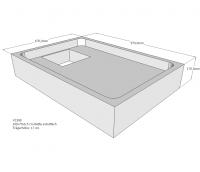 Neuesbad Wannenträger für Bette extraflach 100x70x6,5