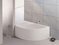 Hoesch Badewanne Spectra Eck 1700x1000 links mit angeformter Schürze, weiß
