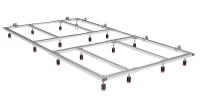 Fiora Montagegestell für Silex Duschwannen, für Duschwannenlänge von 70 bis 100 cm
