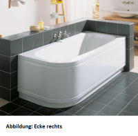 Bette Rechteck-Badewanne Form Comfort 3700, 170x73x42 cm