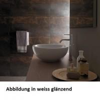 Globo Concept Aufsatzwaschtisch, B: 420, T: 420, H: 160 mm, ohne Hahnloch, schwarz matt