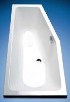 Hoesch Badewanne Combi rechts 1600x700, weiß