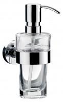 Emco eposa Seifenspender, durchtauchend, Kristallglas klar, Metallpumpe, 130ml, 082100101