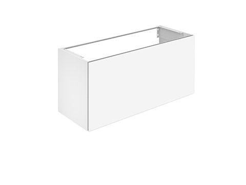 Keuco Waschtischunterschrank X-Line, 1 Frt-Auszug weiß/Glas weiß, 1200x605x490mm, 33182300000