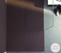 Fiora Silex Privilege Duschwanne, Breite 80 cm, Länge 100 cm, Farbe: wenge