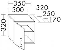 Burgbad Hängeschrank Sys30 PG2 320x300x250 Weiß Hochglanz, HM3042L461