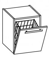 Artiqua EVOLUTION 211 Waschtischunterschrank B:384mm 1 Wäschekipppe