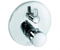 Kludi BALANCE Unterputz-Thermostatarmatu Feinbau-Set mit Absperrventil chrom/weiß, 528359175