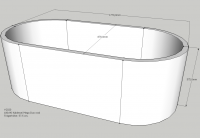 Neuesbad Wannenträger für Kaldewei Mega Duo Oval Nr.184 180x90 oval