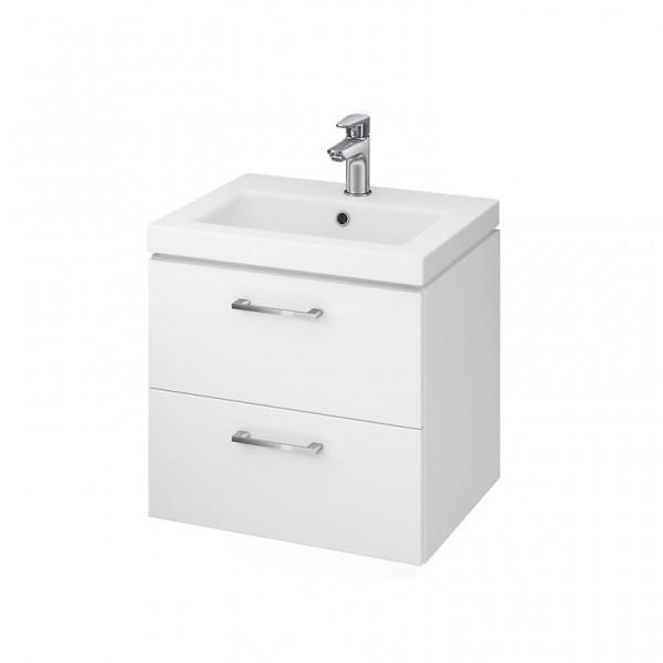 Neuesbad Serie 50 Waschtisch-Set 50cm, Keramikwaschtisch Version 2 mit Unterschrank, weiss