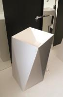 ArtCeram One Shot Sharp freistehender Waschtisch, B: 500, T: 500, H: 850 mm, weiss glänzend