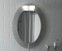 Globo Paestum Spiegel mit Metallrahmen, 95x71cm, Blattgold, PASG38, Blattgold