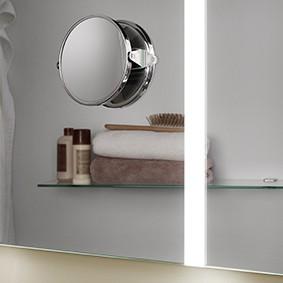 Kosmetikspiegel chrom Angel BxHxT: 135x127x28, Angel Angel
