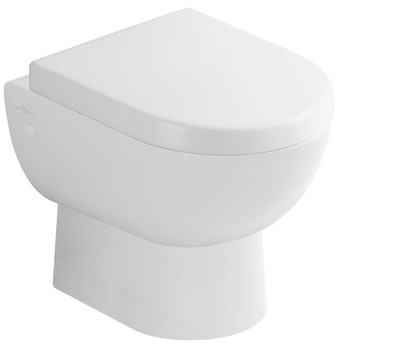 Flachspül-WC SUBWAY bodenstehend Abgang waagerecht,