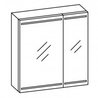 Artiqua EVOLUTION 212 LED Spiegelschrank B:610mm 2 asymetrische Türen