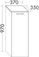 Burgbad Cala 2.0 Halb-Hochschrank UHCP037, B:370, T:350, H:970mm, Preisgruppe 1