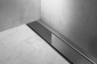 ESS Easy Drain Compact TAF Wall 130 cm, 50 mm Sperrwasserh., Befliesbar / Edelstahl Gebürstet, EDCOM