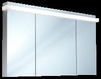 Schneider Spiegelschrank Taikaline/130/3/GT/LED, 1x45W 1300x785x120 alueloxiert, 158.131.02.50
