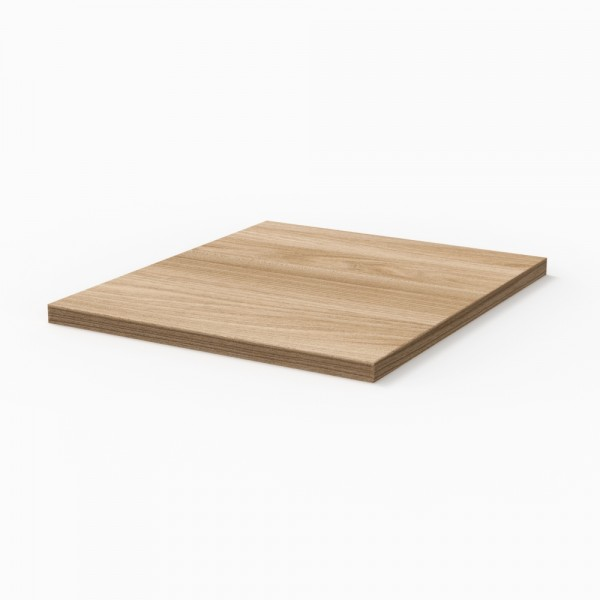 Sanipa 3way Abdeckplatte, Ulme Natural-Touch, AP10015
