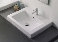 Scarabeo Square 8007/A Einbauwaschtisch B: 60 T: 51 cm