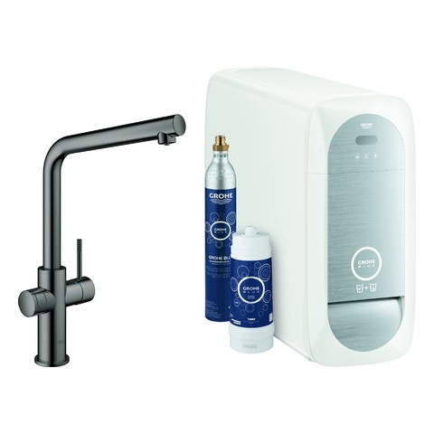 GROHE Blue Home Starter Kit 31454 Bluetooth/WIFI L-Auslauf hard graphite, 31454A01
