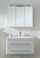 Neuesbad 4000 Badmöbelset Breite 90 cm, inklusive Waschtisch, Unterschrank und Spiegelschrank