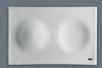 Oli Betätigungsplatte Moon Hydroboost No-Touch, Oberfl. Keramik Weiß