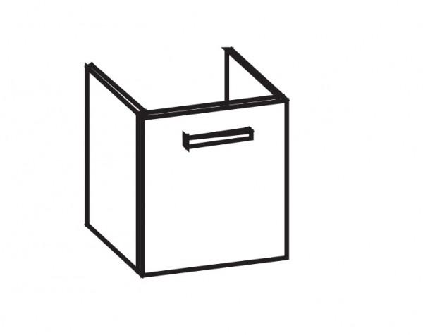 Artiqua 413 Waschtischunterschrank für 4U 223465, Weiß Glanz, 413-WUT-K23-L-7050-68
