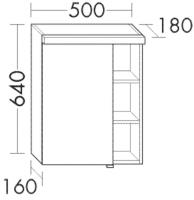Burgbad Spiegelschrank Orell 640x500x180 Sand Matt, SPFQ050LF2650