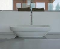 Globo Genesis Aufsatz-Waschtisch, B: 600, T: 400, H: 150 mm, weiss