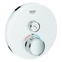 Grohe THM Grohtherm SmartControl 29150 rund FMS 1 Absperrventil moon white, 29150LS0