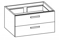 """Artiqua COLLECTION 413 Waschtischunterschrank zu """"iCon""""124090 B:850mm 2 Auszüge"""