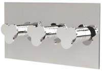 IB Floyd 3 Thermostatarmatur Unterputz chrom mit zwei Ventilen horizontal, inklusive Einbaukörper