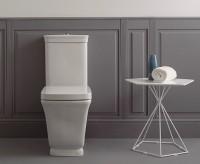 Globo Relais WC für Kombination mit Spülkasten, T:68, B:36, H:43 cm, RE003BI, weiss glänzend