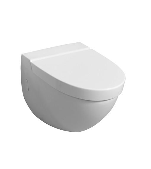 WC-Sitz F1, Edelstahlscharniere, 574100000, Weiß (Alpin) 574100000