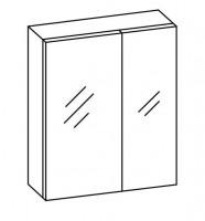 Artiqua COLLECTION 415 Spiegelschrank B:600mm 2 asymetrische Doppel-Spiegel-Türen