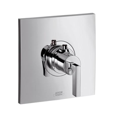 Hansgrohe Thermostat Unterputz Axor Citterio Hight Flow Fertigset chrom mit Hebelgr., 39711000