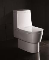 Neuesbad 4000 Stand-Tiefspül-WC, mit Spülkasten und WC-Sitz mit Absenkautomatik, weiss mit Nanobesch