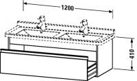 Duravit Waschtischunterschrank wandhängend Ketho T:465, B:1200, H:410mm, KT6666
