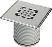 Viega Aufsatz 4934.5 Rost verschraubt in 150x150mm Kunststoff grau