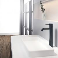 Steinberg Waschtischarmatur, hoch 303mm, ohne Ablaufgarnitur, Ausladung 128mm, schwarz, 100 1700 S