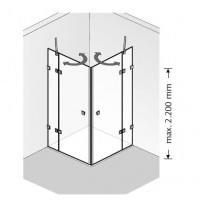 HSK Atelier Pur 2 Drehtüren pendelbar, an Nebenteilen, AP.126