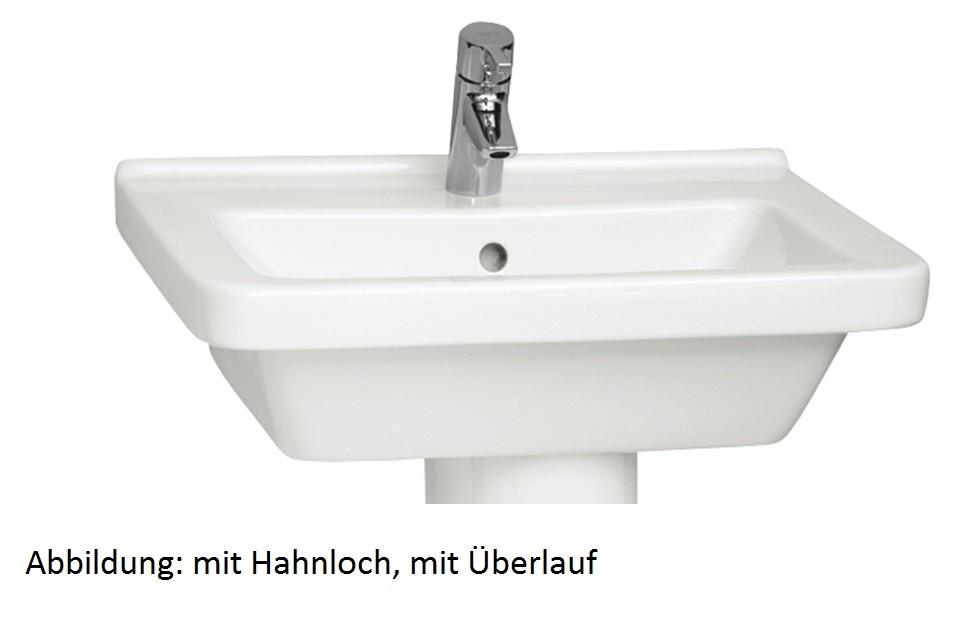 Waschtisch VitrA S50 600 x 460 mm, 1 Hahnloch mittig weiss, 5310L003-0001 5310L003-0001