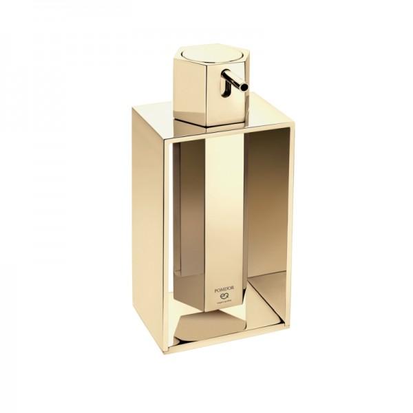 Pomdor Mirage Seifenspender Mit Standrahmen 9,5x9x21cm, Gold, 727831001