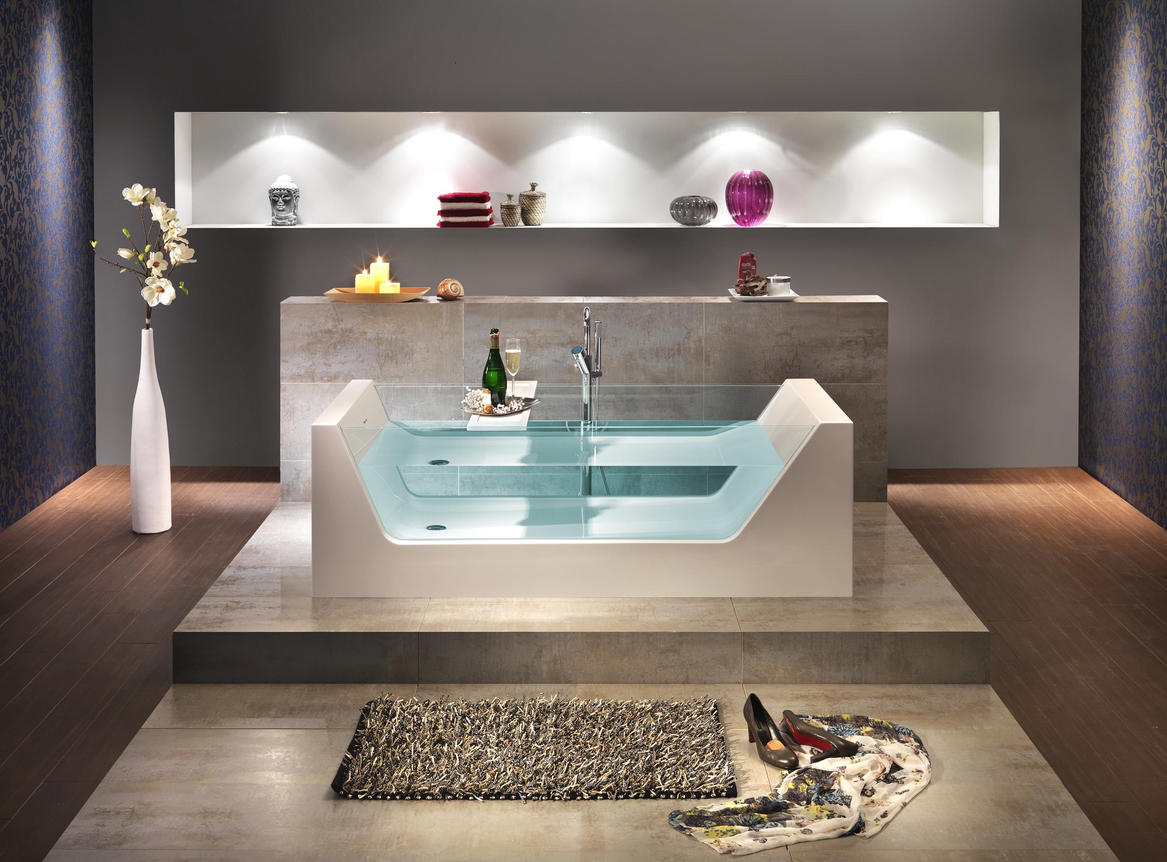 freistehende badewanne pure 1810x810x430 mm wei. Black Bedroom Furniture Sets. Home Design Ideas