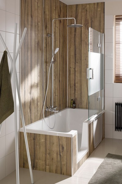 HSK Duschbadewanne Dobla, 160x75cm, Einstieg links, 540160