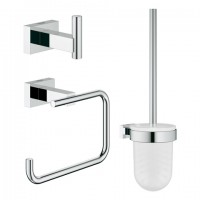 Grohe WC-Set 3in1 Essentials Cube 40757 chrom, 40757001