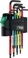 Wera-Werk Winkelschraubendrehersatz 9 tlg. TX mit Bohrung farbmarkiert 967 SPKL/9 TORX BO, 507359900