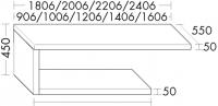 Burgbad Konsolenplatte 450x1406x550 Weiß Matt, APW140ELA0080