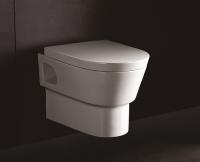 Neuesbad 4000 Wand-Tiefspül-WC, weiss mit Nanobeschichtung, mit WC-Sitz mit Absenkautomatik